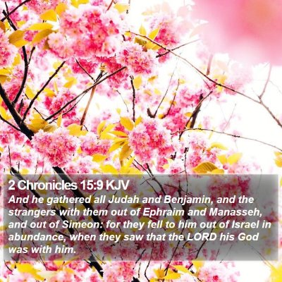 2 Chronicles 15:9 KJV Bible Verse Image