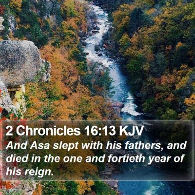 2 Chronicles 16:13 KJV Bible Verse Image