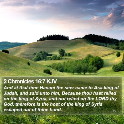2 Chronicles 16:7 KJV Bible Verse Image