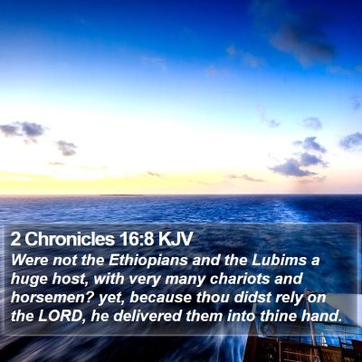 2 Chronicles 16:8 KJV Bible Verse Image