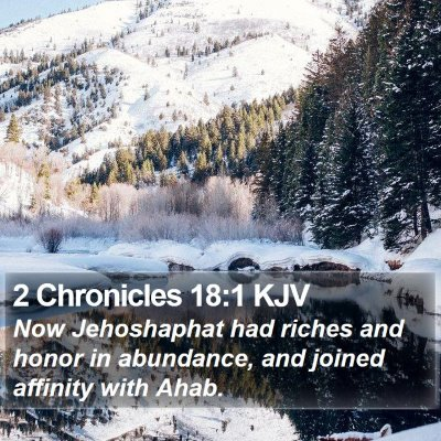 2 Chronicles 18:1 KJV Bible Verse Image