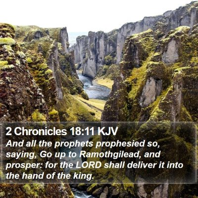 2 Chronicles 18:11 KJV Bible Verse Image