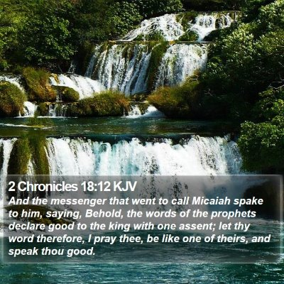 2 Chronicles 18:12 KJV Bible Verse Image