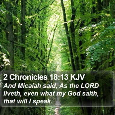 2 Chronicles 18:13 KJV Bible Verse Image