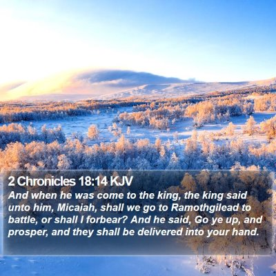 2 Chronicles 18:14 KJV Bible Verse Image