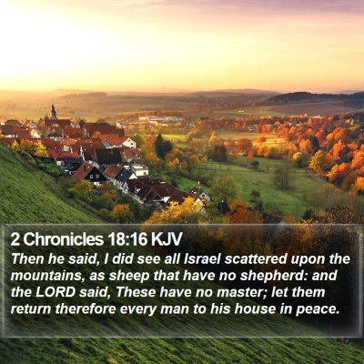 2 Chronicles 18:16 KJV Bible Verse Image
