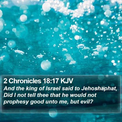 2 Chronicles 18:17 KJV Bible Verse Image