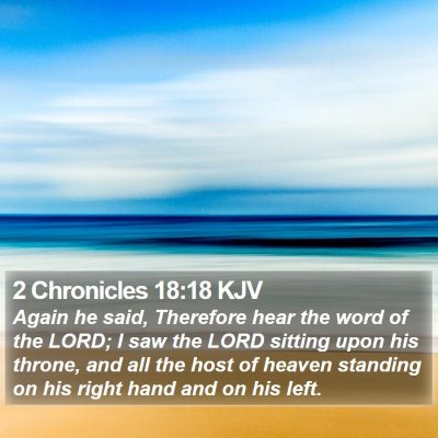 2 Chronicles 18:18 KJV Bible Verse Image