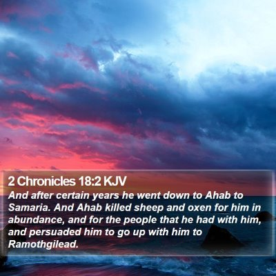 2 Chronicles 18:2 KJV Bible Verse Image