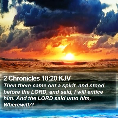 2 Chronicles 18:20 KJV Bible Verse Image