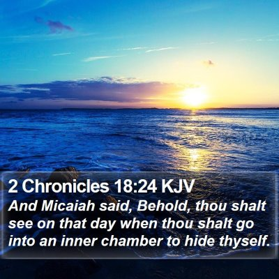 2 Chronicles 18:24 KJV Bible Verse Image