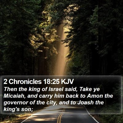 2 Chronicles 18:25 KJV Bible Verse Image