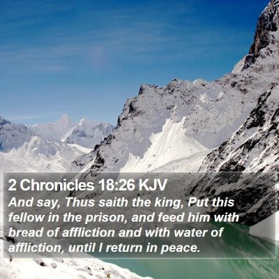 2 Chronicles 18:26 KJV Bible Verse Image