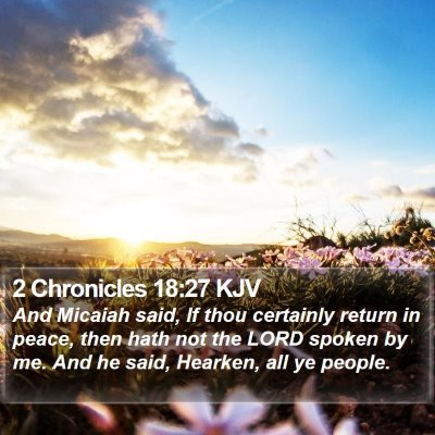2 Chronicles 18:27 KJV Bible Verse Image