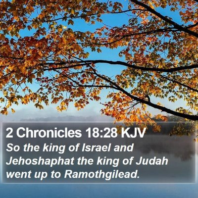 2 Chronicles 18:28 KJV Bible Verse Image
