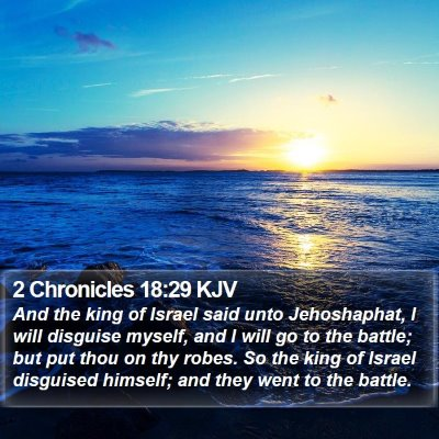 2 Chronicles 18:29 KJV Bible Verse Image