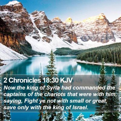 2 Chronicles 18:30 KJV Bible Verse Image