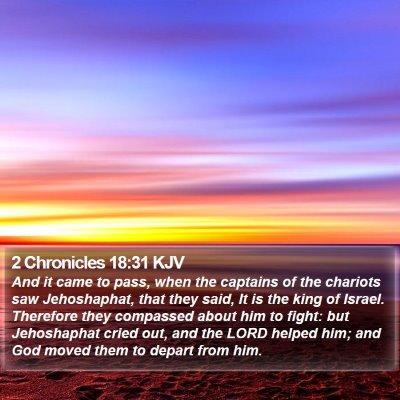 2 Chronicles 18:31 KJV Bible Verse Image