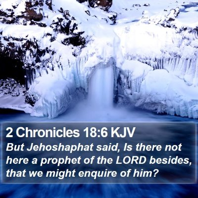 2 Chronicles 18:6 KJV Bible Verse Image