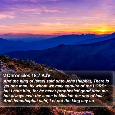 2 Chronicles 18:7 KJV Bible Verse Image
