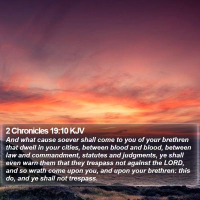2 Chronicles 19:10 KJV Bible Verse Image