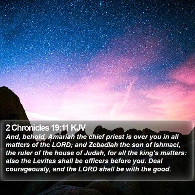 2 Chronicles 19:11 KJV Bible Verse Image