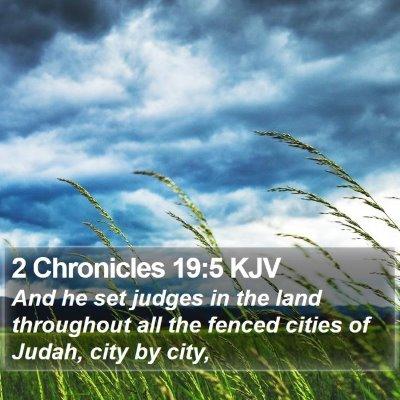 2 Chronicles 19:5 KJV Bible Verse Image
