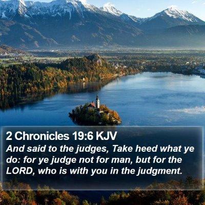 2 Chronicles 19:6 KJV Bible Verse Image