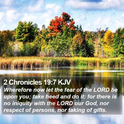 2 Chronicles 19:7 KJV Bible Verse Image