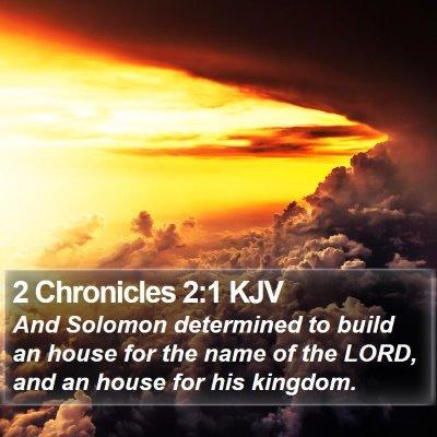 2 Chronicles 2:1 KJV Bible Verse Image