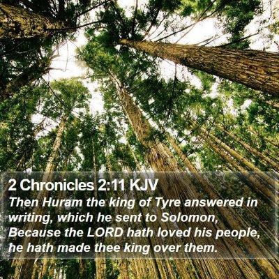2 Chronicles 2:11 KJV Bible Verse Image