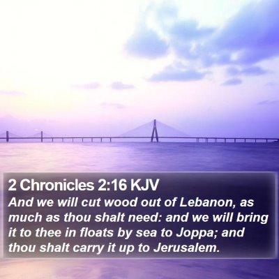 2 Chronicles 2:16 KJV Bible Verse Image