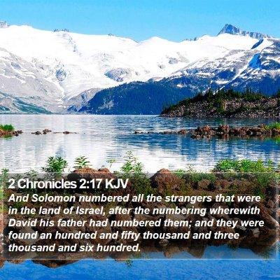 2 Chronicles 2:17 KJV Bible Verse Image