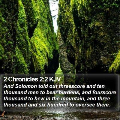 2 Chronicles 2:2 KJV Bible Verse Image