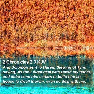 2 Chronicles 2:3 KJV Bible Verse Image