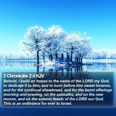 2 Chronicles 2:4 KJV Bible Verse Image