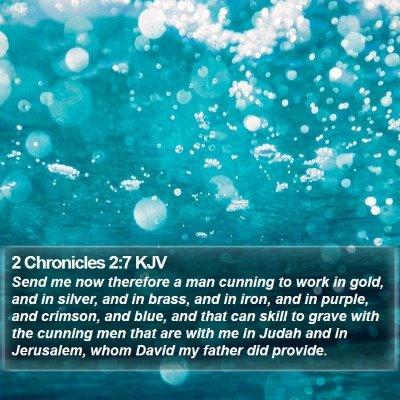 2 Chronicles 2:7 KJV Bible Verse Image