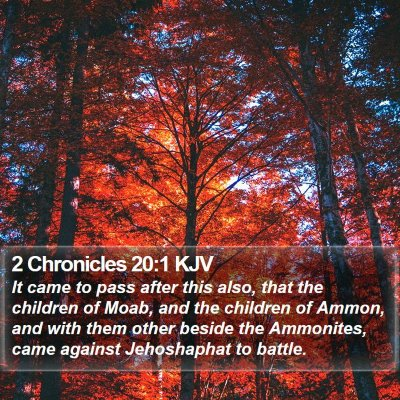 2 Chronicles 20:1 KJV Bible Verse Image
