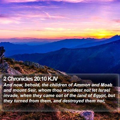 2 Chronicles 20:10 KJV Bible Verse Image