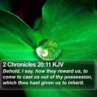 2 Chronicles 20:11 KJV Bible Verse Image