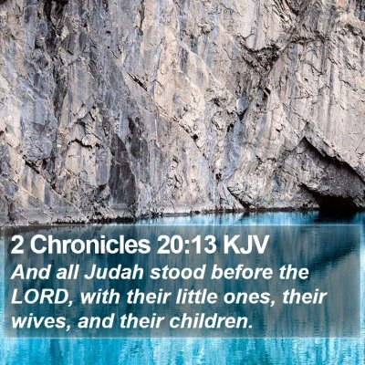 2 Chronicles 20:13 KJV Bible Verse Image