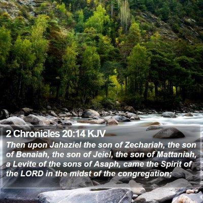 2 Chronicles 20:14 KJV Bible Verse Image