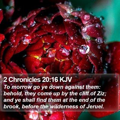 2 Chronicles 20:16 KJV Bible Verse Image