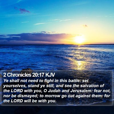 2 Chronicles 20:17 KJV Bible Verse Image