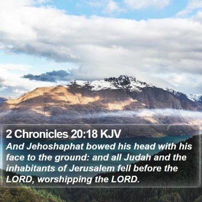2 Chronicles 20:18 KJV Bible Verse Image