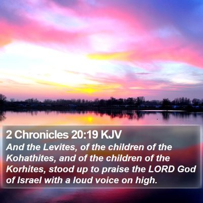 2 Chronicles 20:19 KJV Bible Verse Image