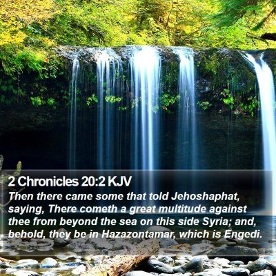 2 Chronicles 20:2 KJV Bible Verse Image