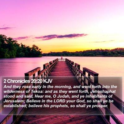 2 Chronicles 20:20 KJV Bible Verse Image