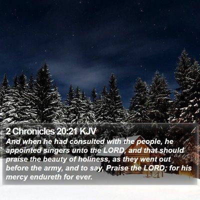2 Chronicles 20:21 KJV Bible Verse Image