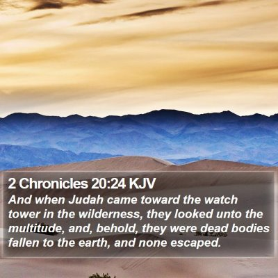 2 Chronicles 20:24 KJV Bible Verse Image